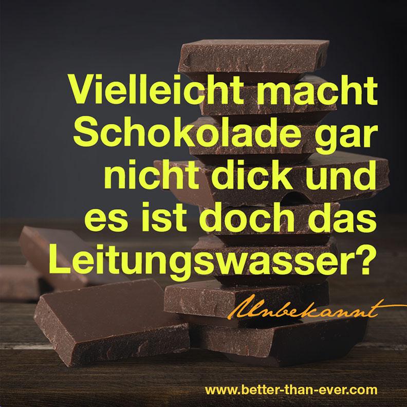 Vielleicht macht Schokolade gar nicht dick…