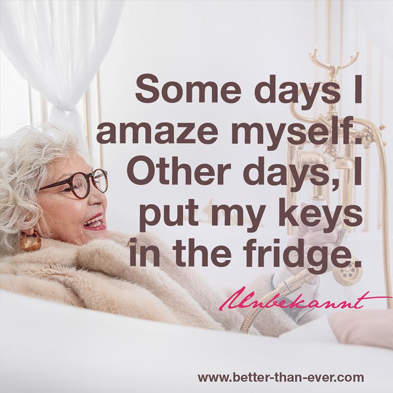 Some days I amaze ..