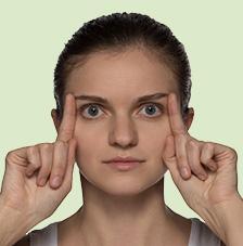 Gesichtsgymnastik: Für wache Augen Übung 3: Für wache Augen, selbst am frühen Morgen Gesichtsgymnastik Fuer wache Augen