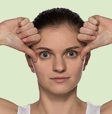Gesichtsgymnastik: Migräne- und Faltenkiller in einem Übung 6: Migräne- und Faltenkiller in einem Gesichtsgymnastik Migraene und Faltenkiller