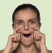 Gesichtsgymnastik: Wer braucht schon Augenringe Übung 5: Wer braucht schon Augenringe? Gesichtsgymnastik Wer braucht schon Augenringe